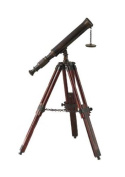 Replica Antique Brass & Wood Tabletop Telescope