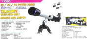 Astronomical Telescope with Diagonal Mirror and Tripod