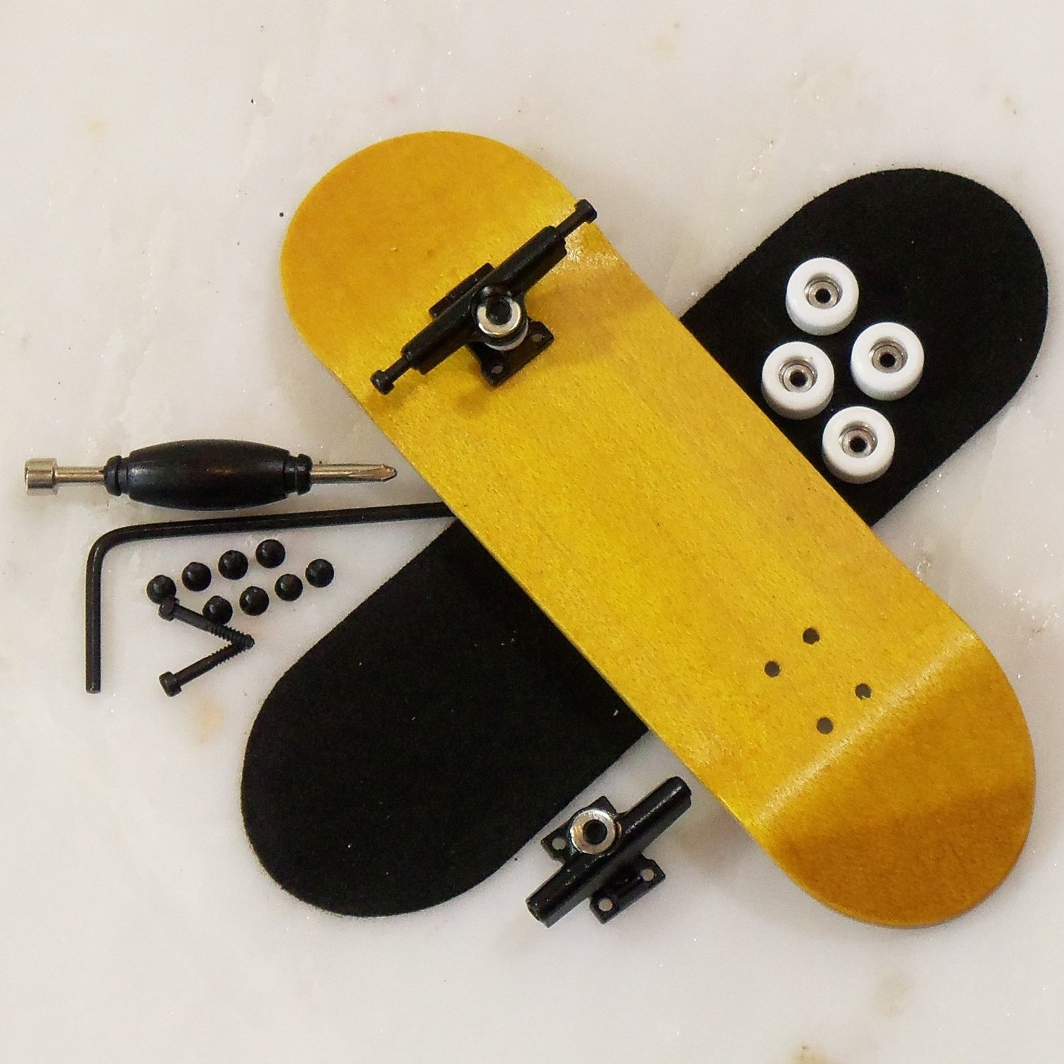Peoples Republic Complete Wooden Fingerboard - Yellow