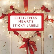 Christmas Hearts Sticky Gift Labels