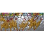12-7.6cm Soft Rubber Chicken Key Chain - Gag Gift