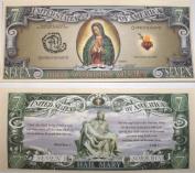 Set of 10 Bills-The Virgin Mary 7 Dollar Bill
