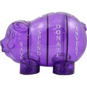Money Savvy Piggy Bank Purple