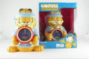 New 25cm Garfield Figural Piggy Coin Bank with Detachable Alarm Clock Comes with Batteries