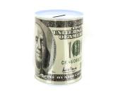100 dollar bill tin money bank - Pack of 24