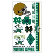 Notre Dame Fighting Irish Official NCAA 10cm x 18cm Temporary Tattoos by Wincraft