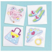 Princess Tiara Ring Kids Party Favour Tattoos