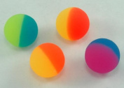 12 Two-tone Icy Super Bouncey Balls -Fun 32mm High Bounce Balls -Great Stocking Stuffers