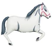 White Horse 110cm Huge Super Shaped Mylar Balloon