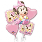 Disney Minnie Mouse First Birthday Party Balloon Bouquet 1st