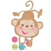 Party Destination 208177 Fisher Price Baby Monkey Jumbo Foil Balloon