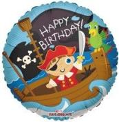 46cm Foil Balloon, Birthday Pirate Boy