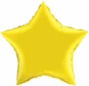 Yellow Star Balloon, Citrine Yellow Star Balloon 50cm Diameter [Toy]