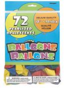 Balloon 30cm Pearl 72pc Bright Asst.