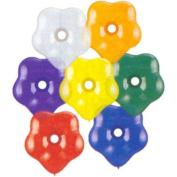 41cm Geo Blossom Asst. Jewel Tones Balloons (10 ct)