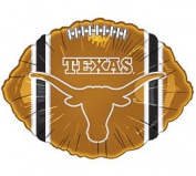 6 NCAA Official Texas Longhorns 46cm Football Shape Foil Balloons Great For Parties And Team Support