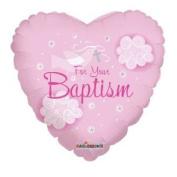 46cm Foil Balloon, Girl Baptism Dove