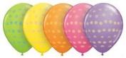 28cm Assorted Polka Dot (100) Latex Balloons