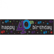 Amscan International The Party Continues Giant Metallic Sign Banner 40th