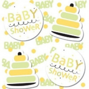 Creative Converting 190763 Yellow and Green Baby Shower Confetti