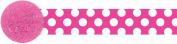 Amscan 220337 Pink & White Polka Dot Crepe Paper