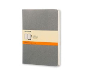 Moleskine Cahier Journal (Set of 3), Extra Large, Ruled, Pebble Grey, Soft Cover