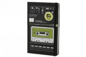 Moleskine Audio Cassette Limited Edition Notebook, Large, Plain, Black, Hard Cover (5 x 8.25)