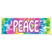 Beistle 57664 Peace Sign Banner