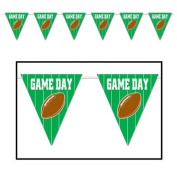 Game Day Football Giant Pennant Banner 23in. x 12ft. Pkg/12
