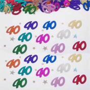 Beistle CN029 40 and Stars Confetti - Pack of 6