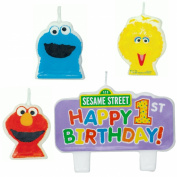 Amscan 207746 Sesame Street 1st - Molded Candle Set