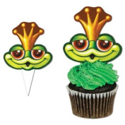 Beistle 60083 Party Food Picks Frog Cupcake Kit
