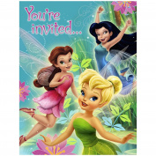 Disney Fairies Invitations (8) Party Supplies