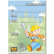 Amscan 207152 Bob the Builder Invitations