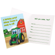 Party Destination 209005 Johnny Tractor Invitations