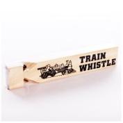 1 Dozen-Wooden Train Whistles- 18cm
