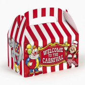 Fun Express Under the Big Top Empty Favour Boxes Party Accessory , 1 Dozen