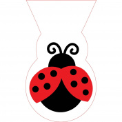 Treat Bags Pack Of 12 Large Shaped Cello Bags With Twist Ties Ladybug Fancy