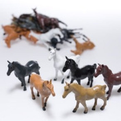 Plastic Horses - 12 Piece set  Roll over image to zoom in      Plastic Horses - 12 Piece set