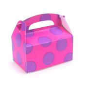 Pink with Purple Big Dots Empty Favour Boxes (4) Party Supplies