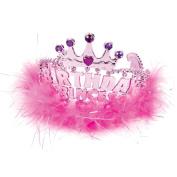 Birthday Princess Tiara - Dress up Pink Marabou Tiara
