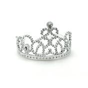 Silver Princess Tiara (8) Party Supplies