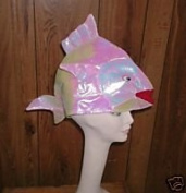 Iridescent White Fish Party Hat