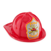 Child Size Red Plastic Fire Chief Hats (8) Party Supplies