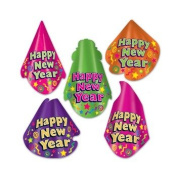 Beistle 80101-50 Color-Brite Hat Assortment - Pack of 50