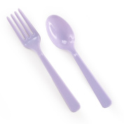 Forks & Spoons - Light Purple (8 each) Party Supplies