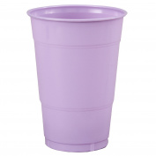 Creative Converting 192883 Luscious Lavender- Lavender 16 oz. Plastic Cups
