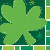 St. Patrick's Day Spring Clover Beverage Napkins, 16ct