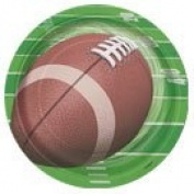 Football Spiral Paper Plates 8ct