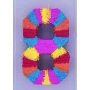 Piñata de asno multicolor